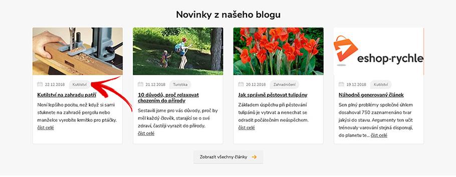 Kategorie blogu