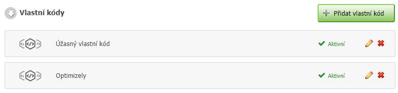 Vlastní kódy v administraci Eshop-rychle