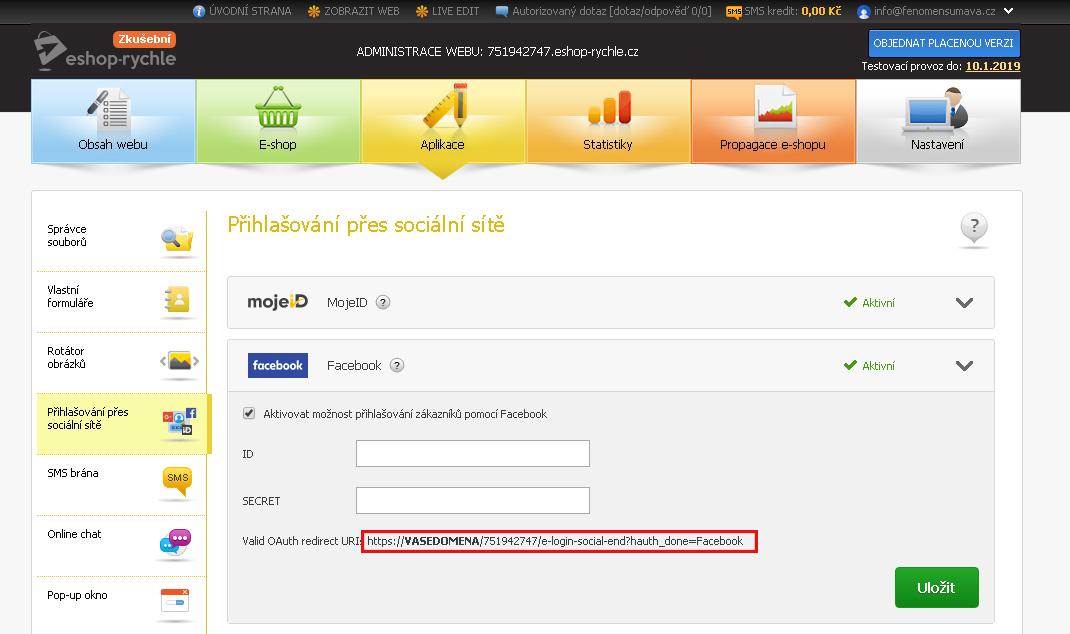 Přihlášení přes sociální síť Google