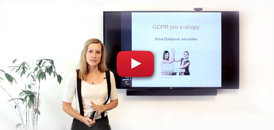 GDPR pro e-shopy | Petra Dolejšová z AK eLegal pro Eshop-rychle