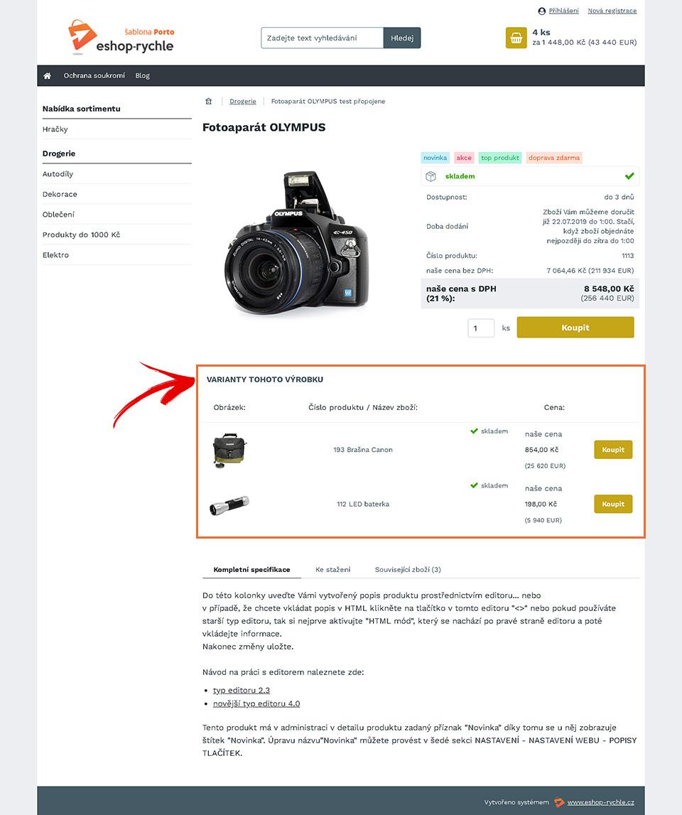 Zobrazení podobných produktů na šablonách 3.0